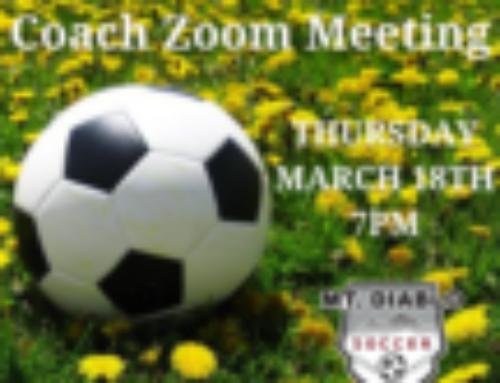 SPRING PRESEASON COACH ZOOM MEETING